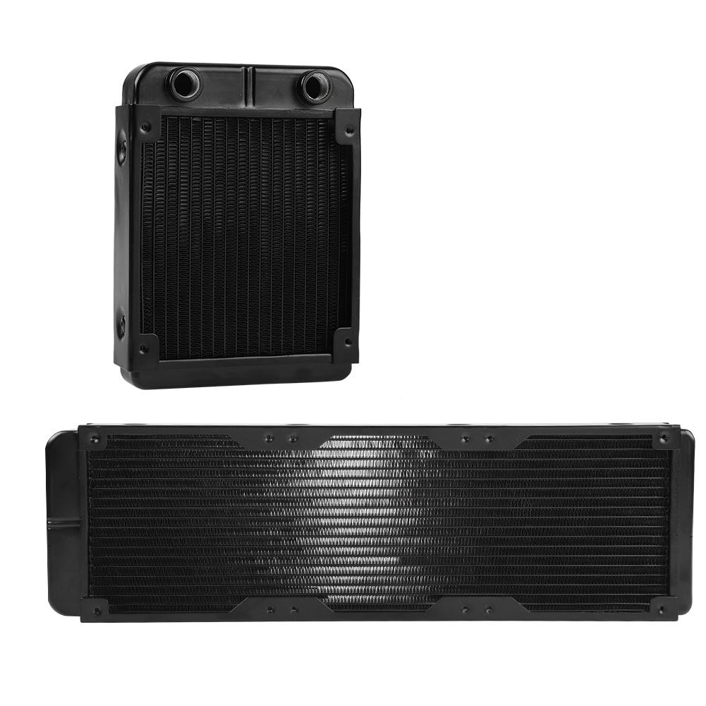 CPU Heatsink for Computer Cooling PC Cooling Radiator Built-in U-Band Radiation Cooling Water Separator Black