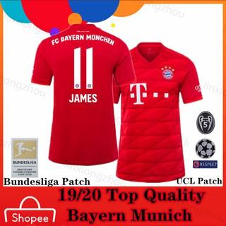 wholesale dealer fd219 51fde Top Quality19/20 Bayern Munich Home Football Jersey | Shopee ...