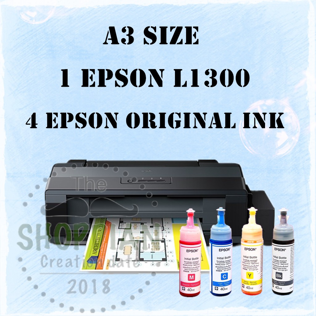 Epson L1300 A3 Ink Tank Printer With Original Ink