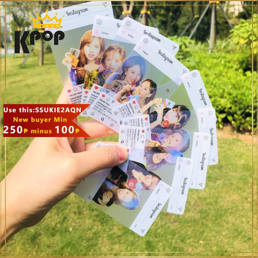 Kpop Twice INS Photos Cards 1 set 9 Transparent Photocards