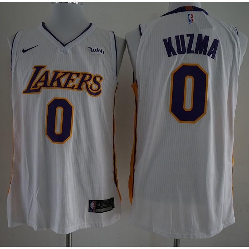 finest selection 46b63 fcbcb 2018 Original Nike NBA Los Angeles Lakers Kyle Kuzma #0 whit