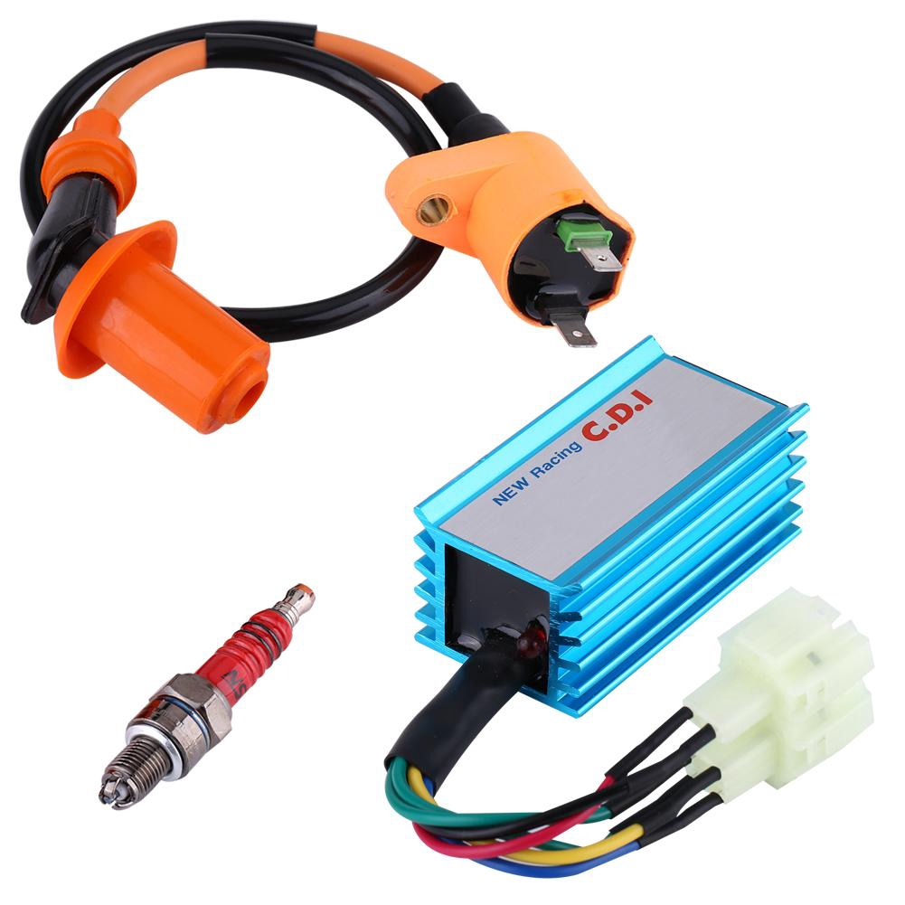 CDI Igniter Kits AC Speed Limit 6-pin Orange ATV Scooter Electrical Component