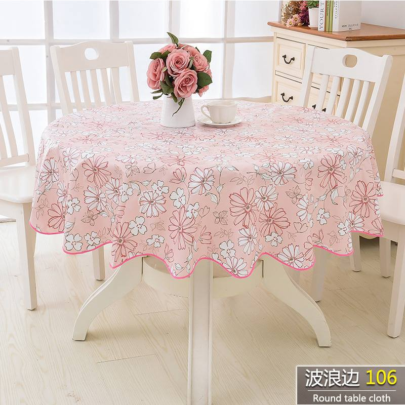 Round Linen Tablecloth With Linen Lace Floral Tablecloth Roses
