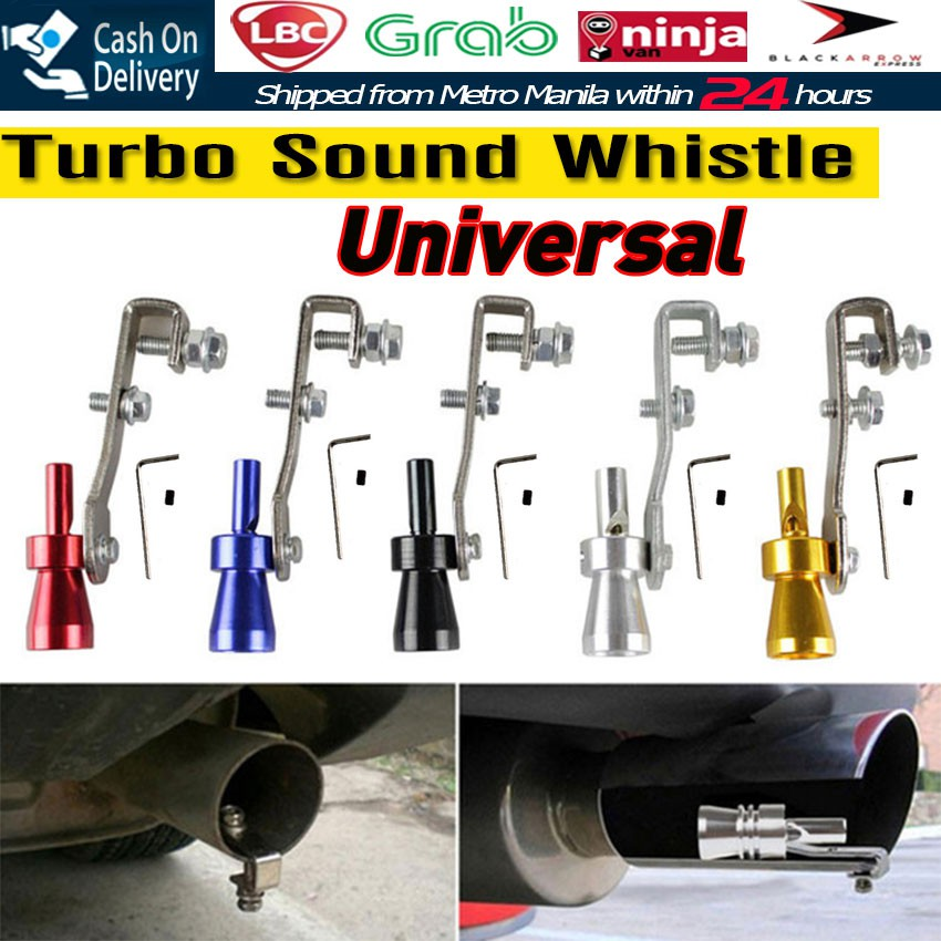 Universal Car Turbo Sound Whistle Muffler Exhaust Pipe Valve