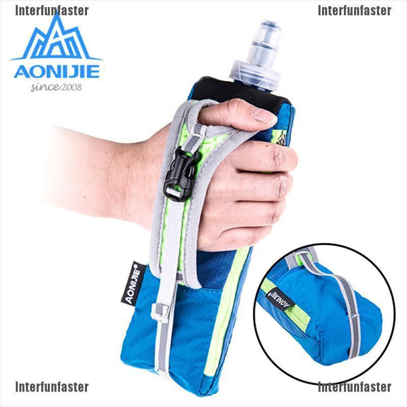AONIJIE Marathon Runing 500ml Handheld Water Bottle Bag Case Hydration Pack st