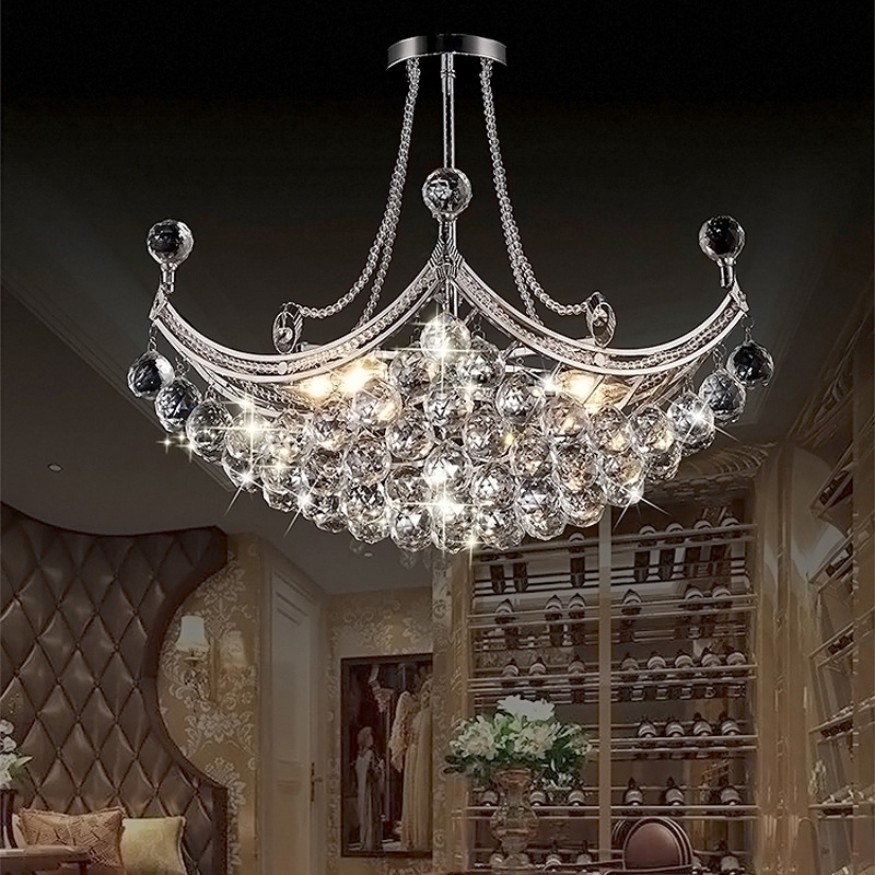 Led Crystal Chandelier Modern Creative Sailing Room Living Room Crystal Lamp Personality Restaurant Shopee Philippines