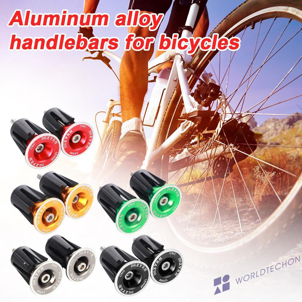 1 Pair Cycle Road Bike Handlebar End Lock-On Plugs Bar Grips Caps Covers YN