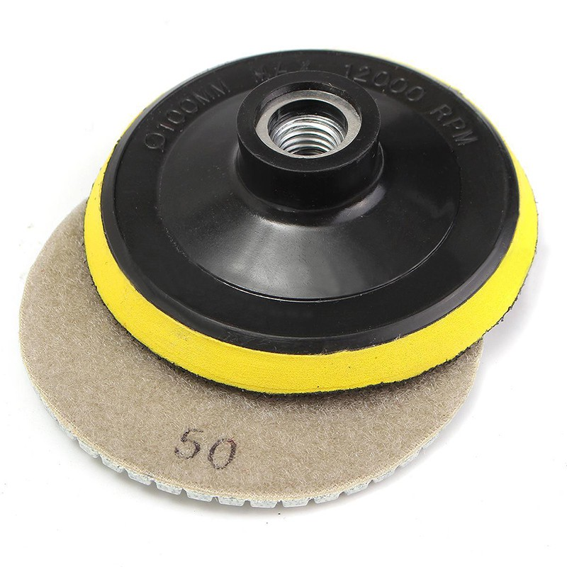 1PC Diamond Polishing Pads Wet//Dry 4 inch Set For Granite Stone Concrete Marble