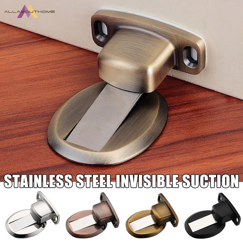 Powerful Door Wall Mount Doorstop Door Stopper Catch Door Safe Holder Copper