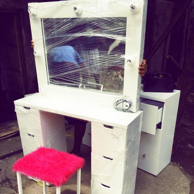 Vanity Dresser Mirror Set Sho