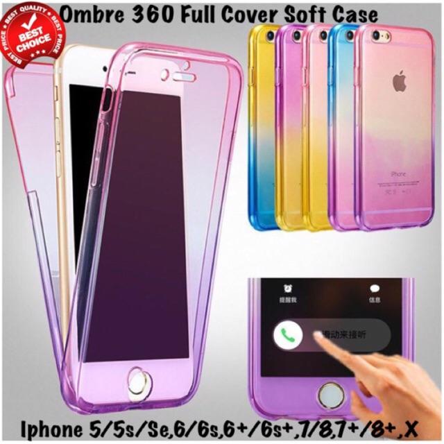 info for a4216 daecf Ombre 360 Degree Soft Iphone Case 5 5s Se 6 6s 7 8 Plus X