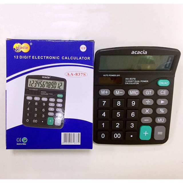 ❤️COD!High Quality 12digital Calculator Solar、AA Battery