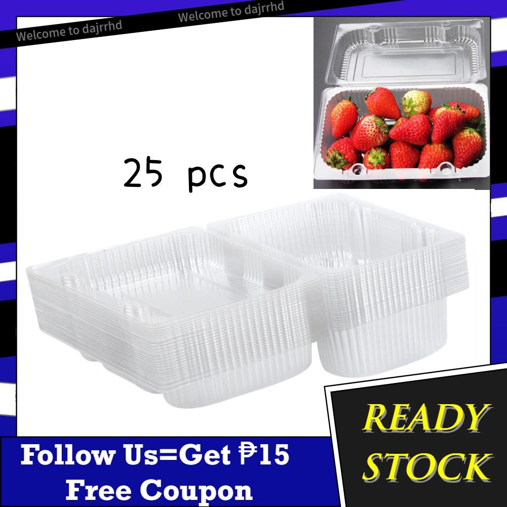 2~10Pcs Disposable Plastic Sauce Fruit Food Snacks Dinner Container Storage Box