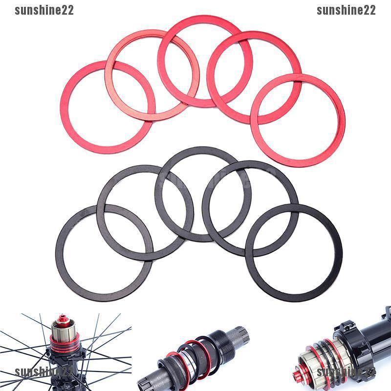 5Pcs Bikes Flywheel Washer Bottom Bracket Center Axis  Bicycle Hub Spacer  lq