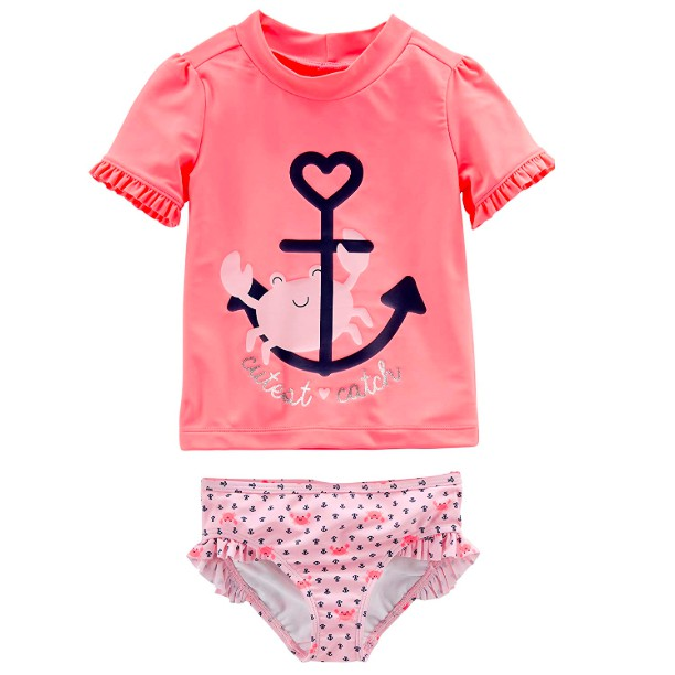 Tankini Swimsuit Set Carters Baby Girls 2-pc