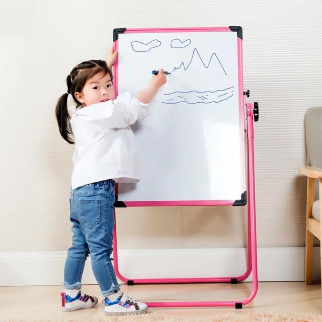 White Board Double Sided Liftable Kids