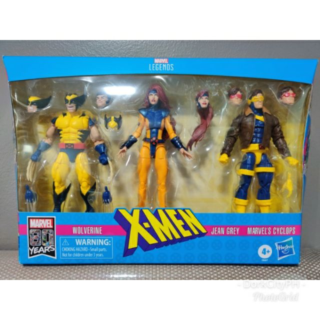 Cyclops and Wolverine 6-In Action Figure 3-Pack Marvel Legends X-Men Jean Grey