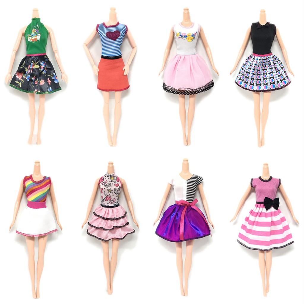 2bb3cd93554f2 8x Girl Doll Toy Dresses Outfits Clothes for Barbie Toys Children Girls Gift
