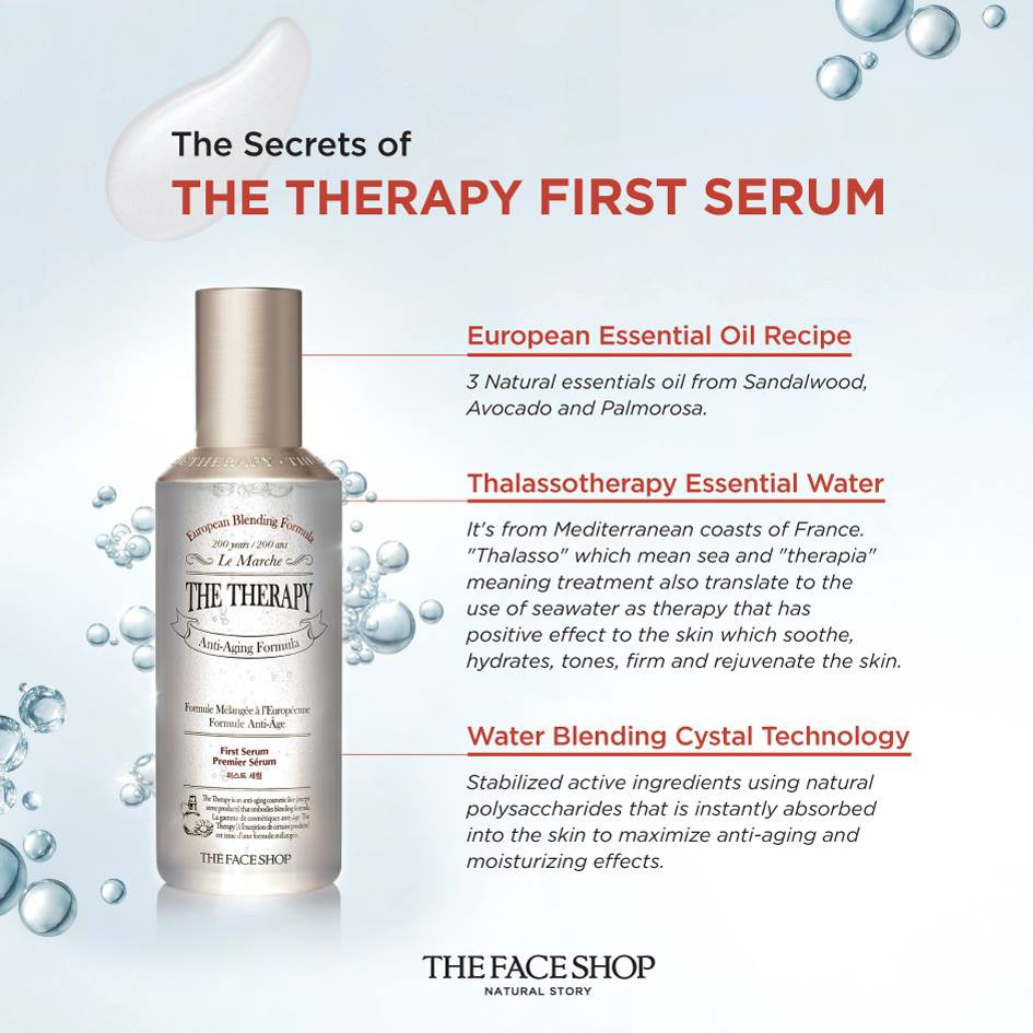ONHAND | The Face Shop The Therapy First Serum (50ml) | Shopee