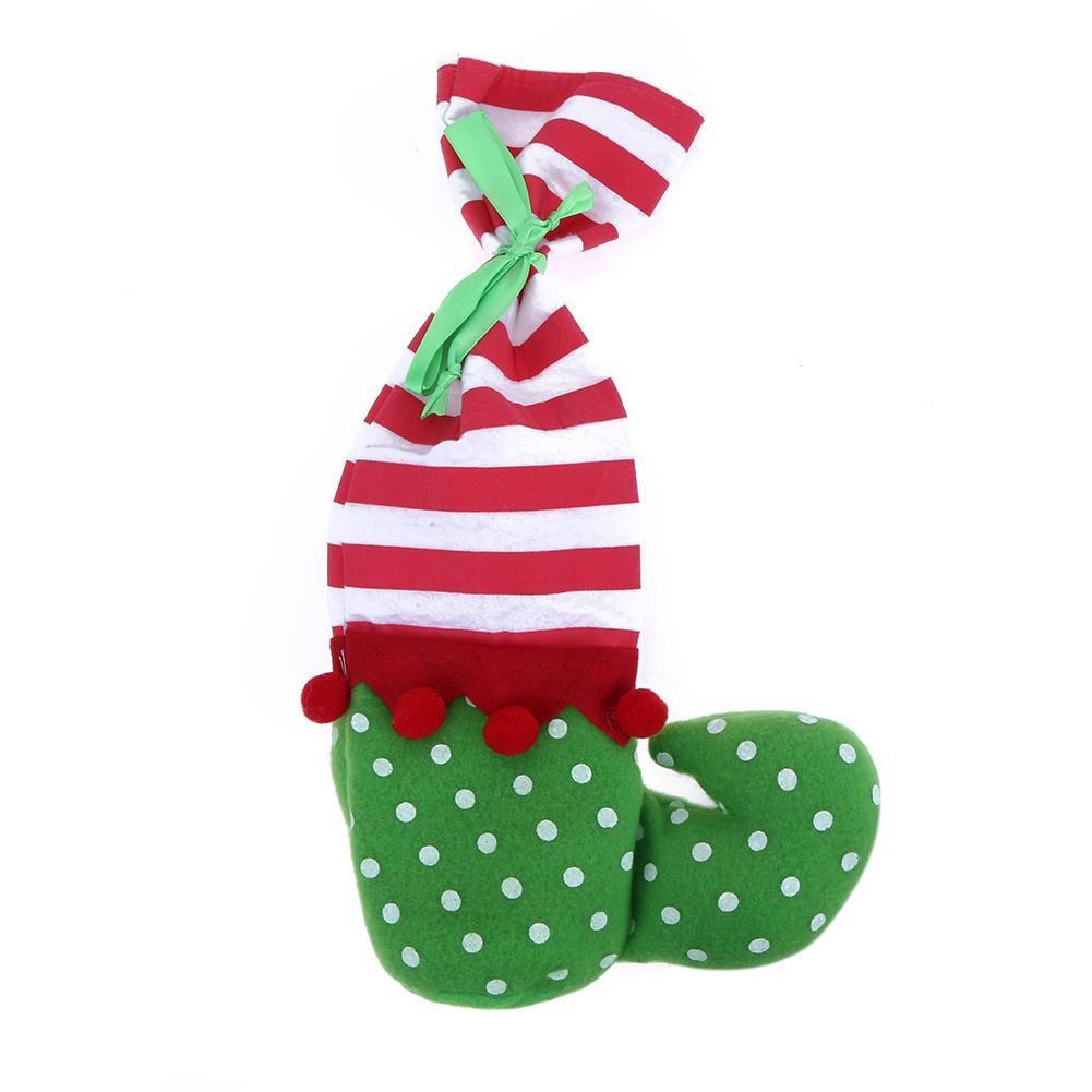 Elf Christmas Gift Bags.Red White Stripe Elf Christmas Gift Candy Bag Santa Claus Cute Gift Bag