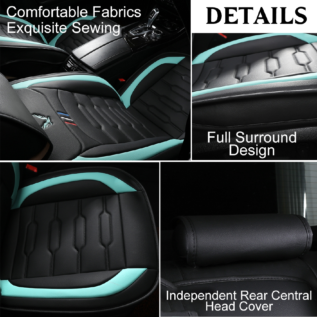 Cushion Uk 11pcs Set 5 Seats Luxury Breathable Pu Leather Full Car Seat Cover Vehicle Parts Accessories Car Seat Covers Cushions