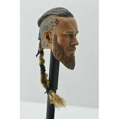 Viking toys 1//6 Viking Head Sculpt Male Figure Head Carving Fit 12/'/' Hot Toys