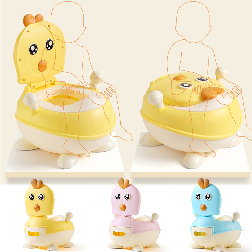 Cute Duck Potty Training Seat for Boys and Girls Lovely Non-slip Toddler Toilet