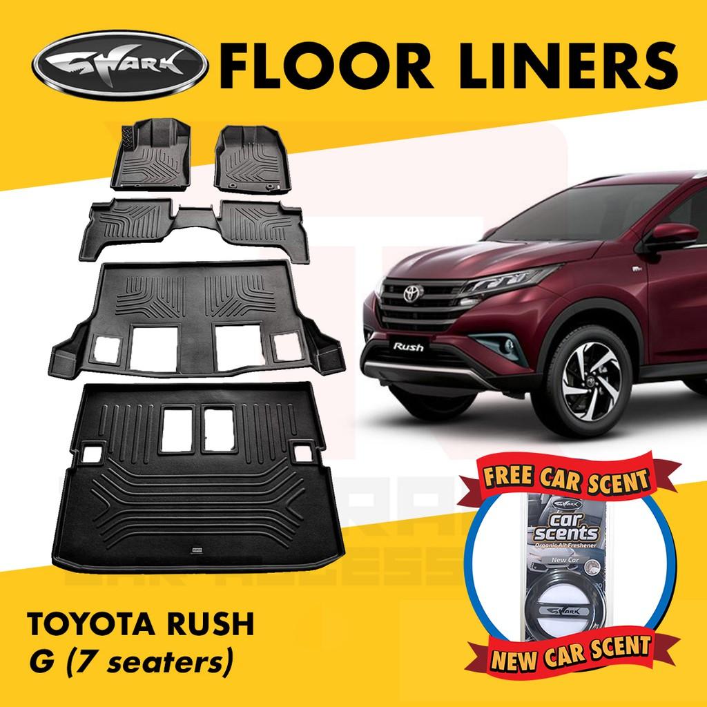 Shark Floorliner / Car Matting Toyota Rush G (7 seater)