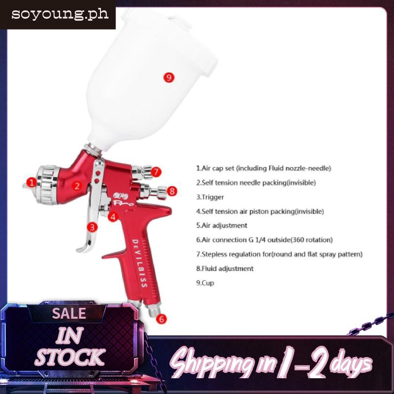 600cc Paint Spray Gun 600cc Car Gravity Feed Hvlp Paint Shopee
