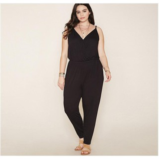 Womens Jumpsuit 2018 Summer Style Rompers Solid Plus Size  cda280a5fa6e