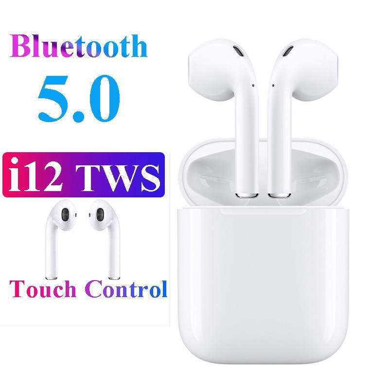 Latest i12 TWS Popup Wireless Earphones Touch Control Bluetooth Earbuds  Hifi Sound Headphones