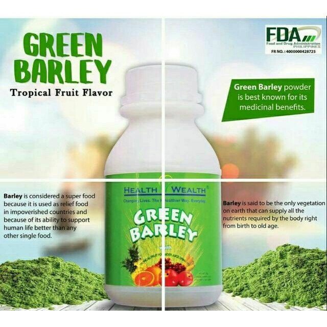AUTHENTIC GREEN BARLEY Tropical Fruit Powder Juice Drink