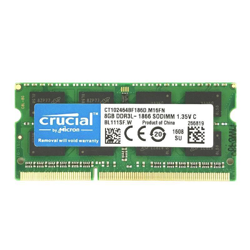 Crucial CT8G3S186DM Memoria para Mac de 8 GB DDR3//DDR3L, 1866 MT//s, PC3-14900, SODIMM, 240-Pin