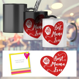 Customize Ceramic Mugs Mothers Day Birthday Christmas Gift Ideas Best Mama Heart Ever Shopee Philippines