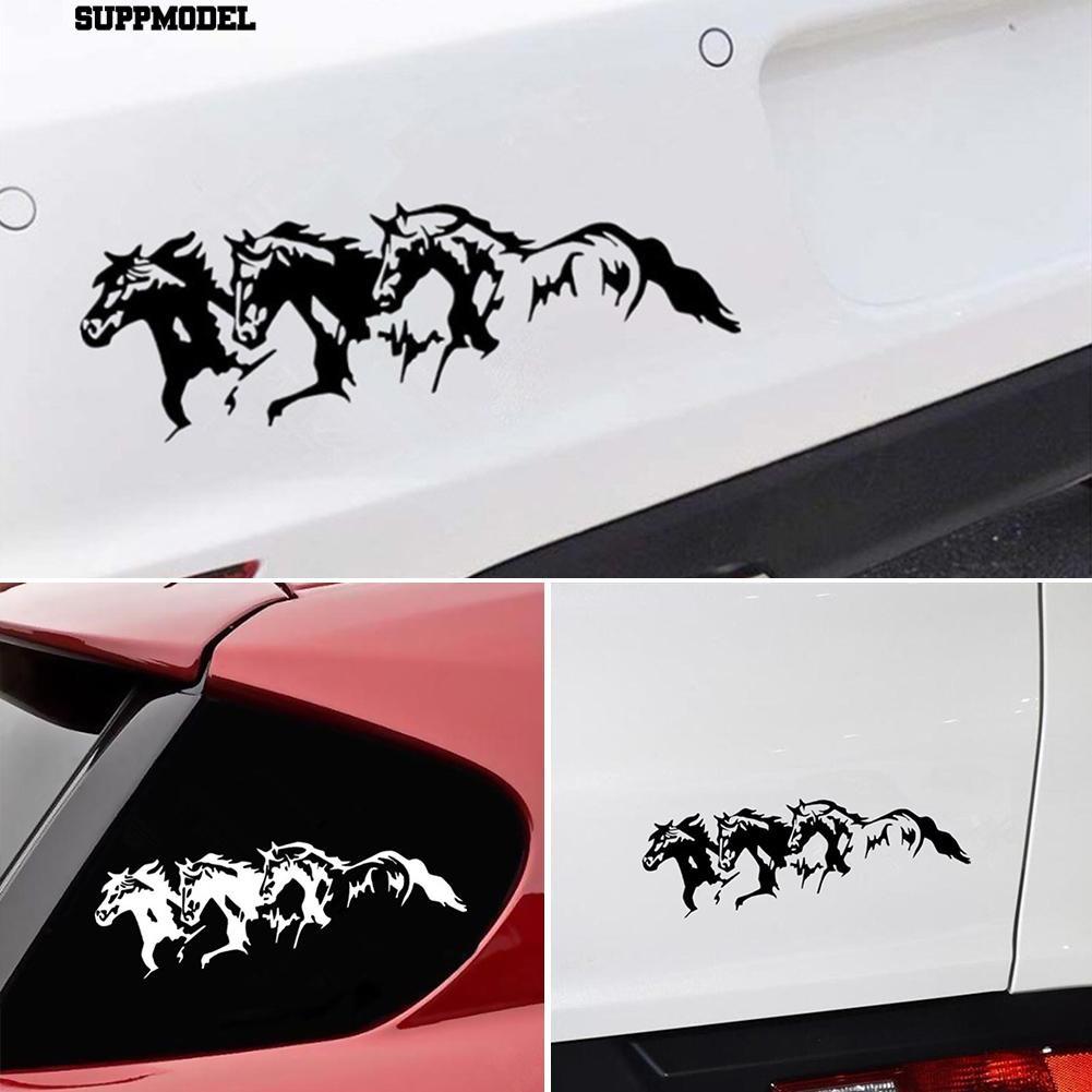1x Running Horses Auto Car Vehicle Self-Adhesive Sticker Waterproof Decal Decor