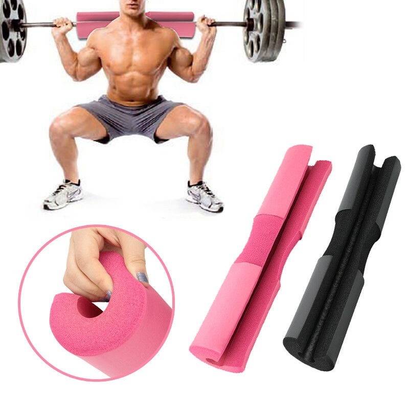 Sponge Padded Barbell Bar Cover Squat Pad Weight Lifting Shoulder Back Support