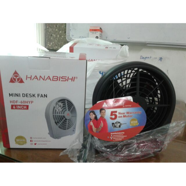Hanabishi Mini Desk Fan Shopee Philippines