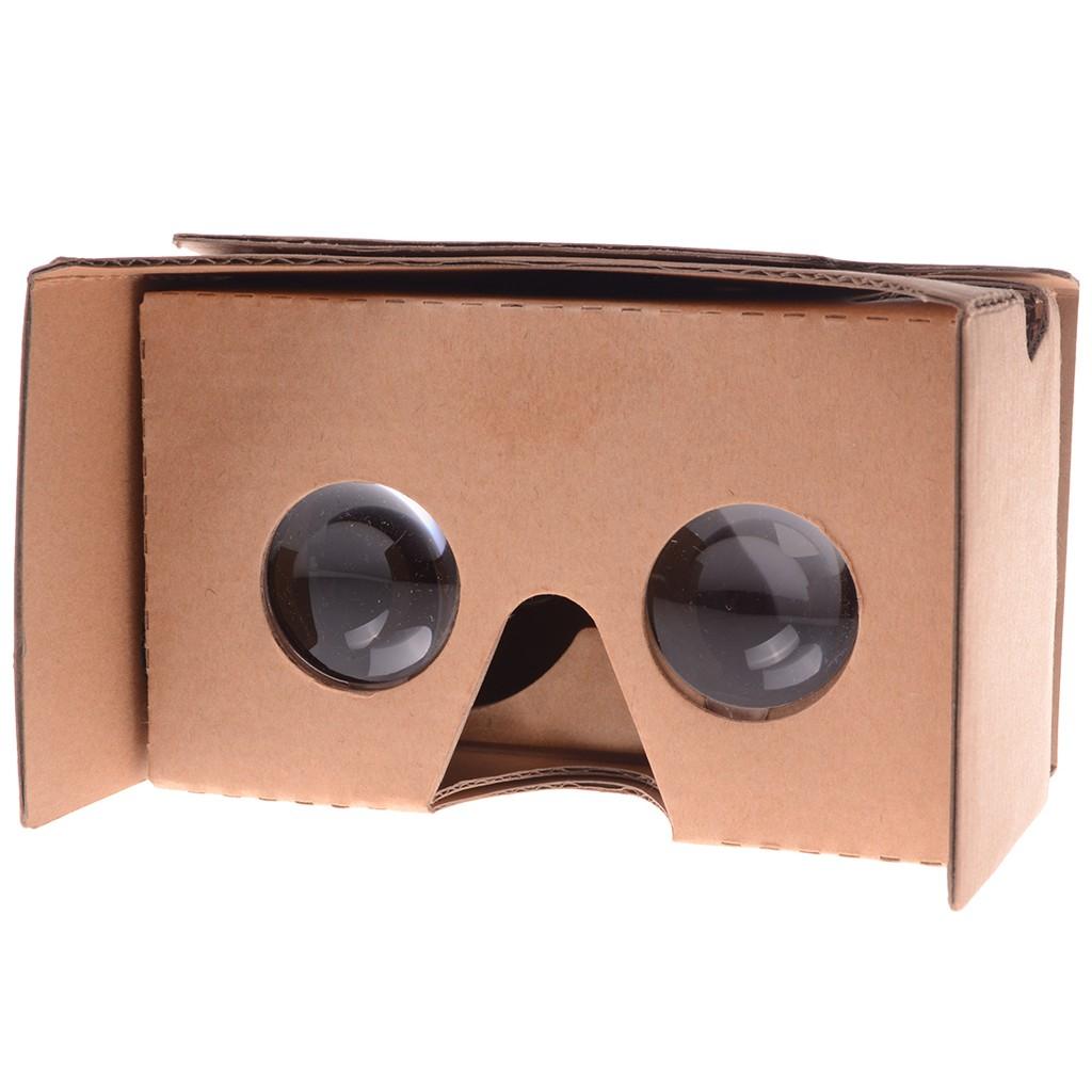 Diy Vr Glasses Head Mounted 3d Smart Phone Vr Glasses Vr Paper Box Yellow