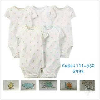 ae9262ec3 Carter's Plain White 5-pack onesies   Shopee Philippines