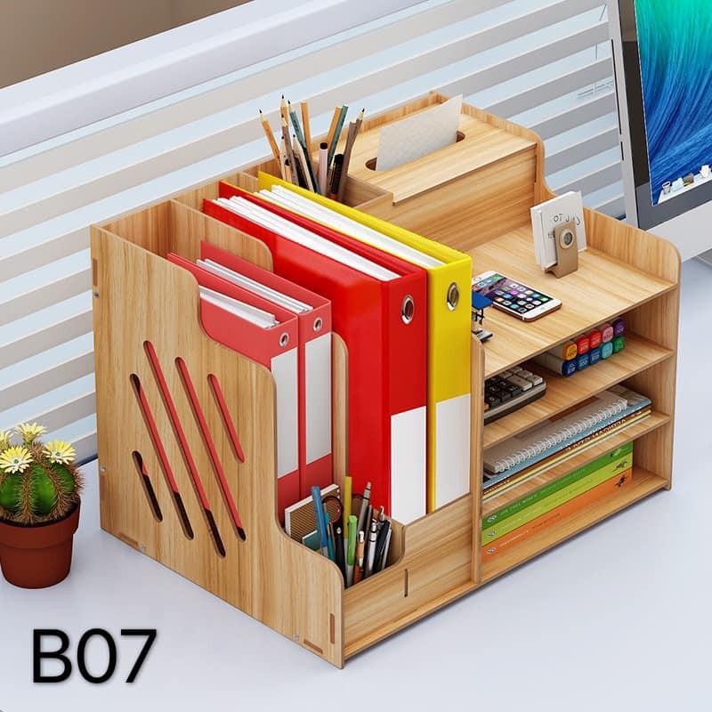 Large Multifunction Diy Desktop Storage, Desktop File Storage Box