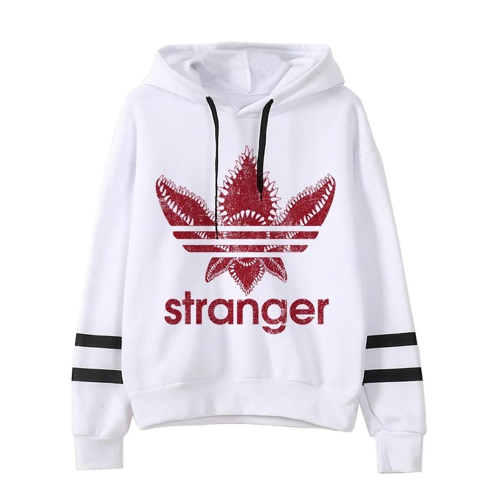 Stranger Things Hoodie Hooded Hoodies Kpop Sweatshirts Kawaii Korean  Oversized Hip Hop Hoodie