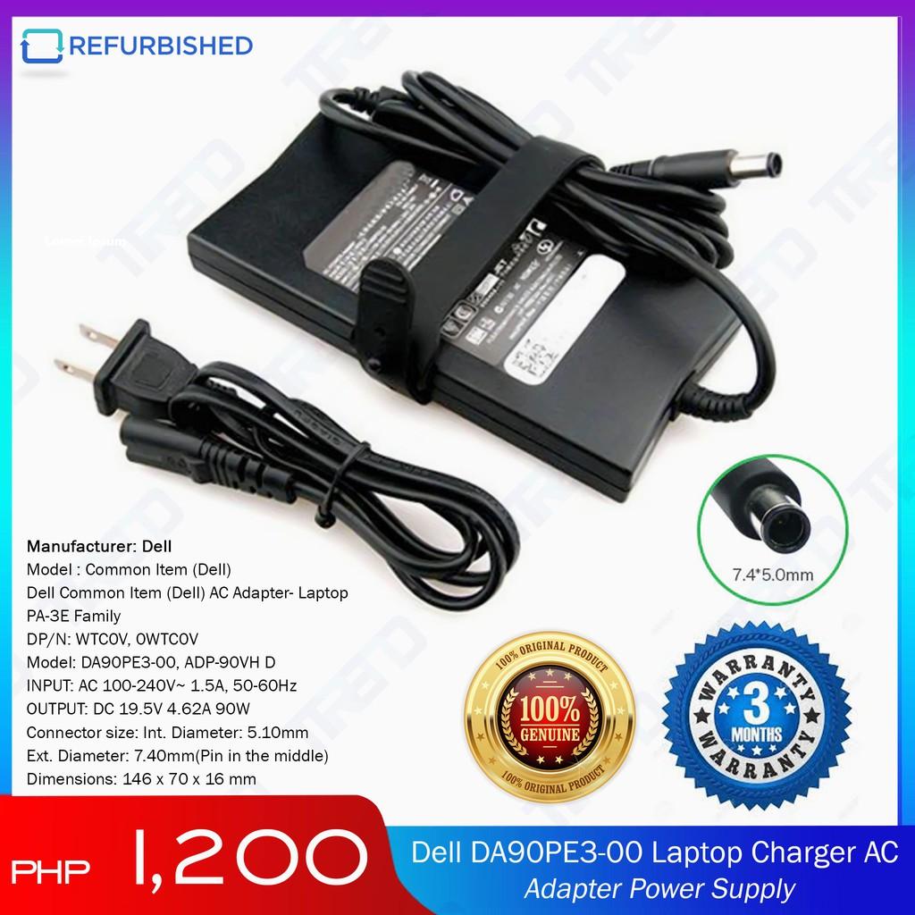Genuine DELL Latitude E6500 19.5V 4.62A 90W AC Charger Power Cord Adapter