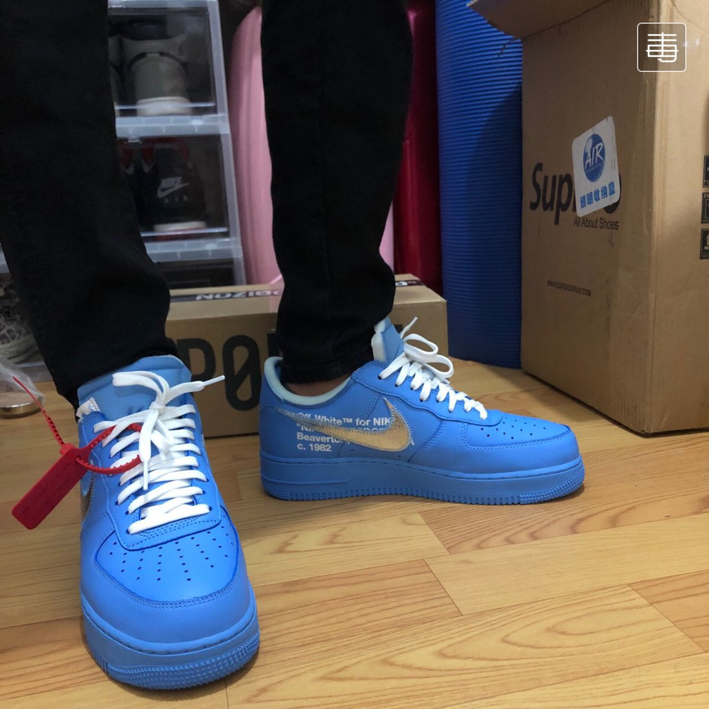 Air Force 1 Low Off White Mca University Blue Ci 1173 400 Shopee Philippines