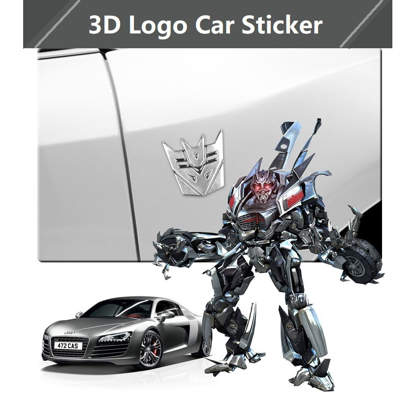 Transformers Autobot 3d Logo Car Emblem Badge Decal Sticker Shopee