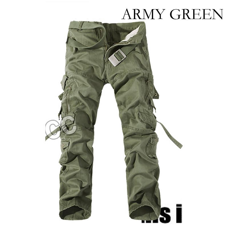 Outdoor Military Tactical Cargo Pants Multi Pockets Mountaineering Long Trousers