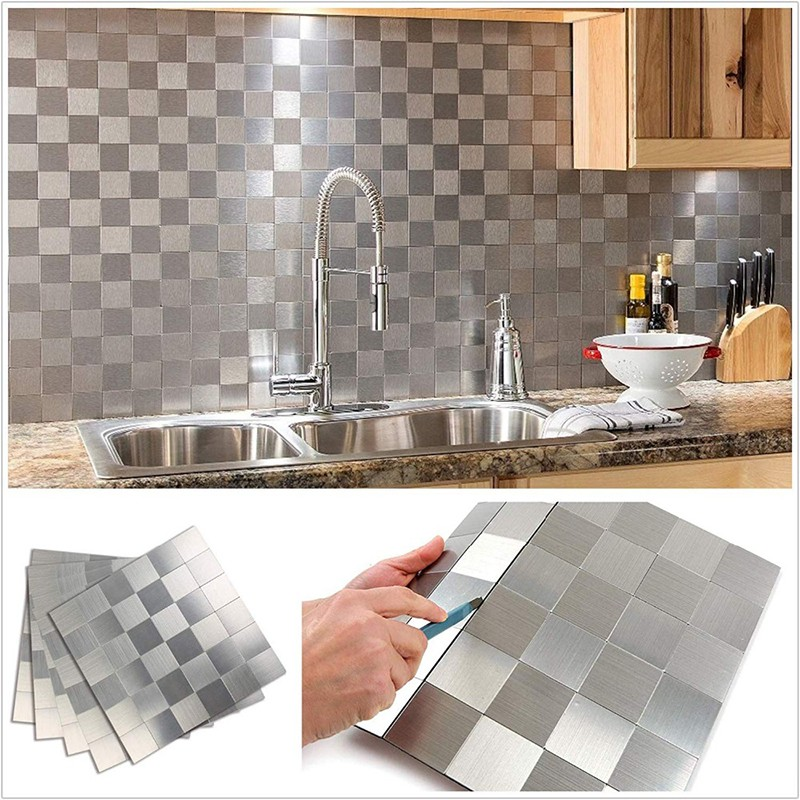 Tile Backsplash Stainless Steel Stick