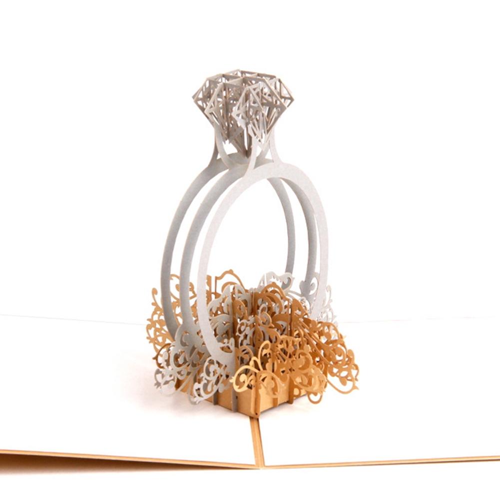 Diamond Ring Diy 3d Handmade Birthday Wedding Paper Gift Craft