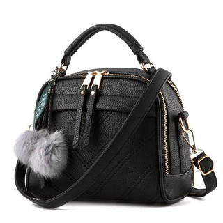 Korean New Style Sling Bag With Plush Ball