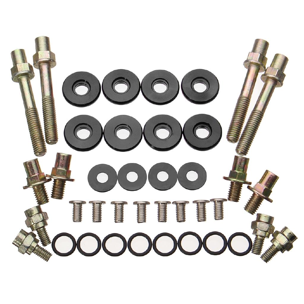 Aluminum Motor//Engine Valve Cover Bolt Kit Honda//Acura CRX DelSol B-Series Blue