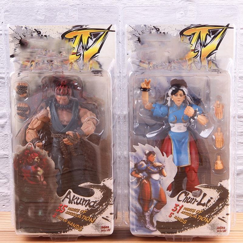 Street Fighter Ken Ryu Chun-Li 10 PCS Game Character Action Figure Kid Gift Toys